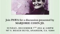 The Palestinian American Women's Association of Southern California (PAWA) presents: WE SUPPORT RASMEA ODEH Join PAWA for a discussion presented by Marjorie Cohn, JD. Sunday, December 7 2:00 PM 907 […]
